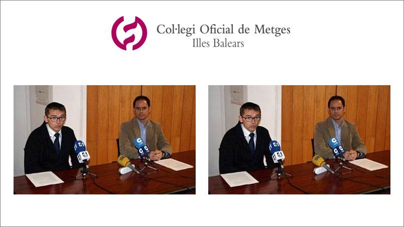 Guillermo Til Pérez y el vicepresidente Dr. Carlos Magri Ruize en la presentación en prensa de la nueva junta directiva SBORL 2015