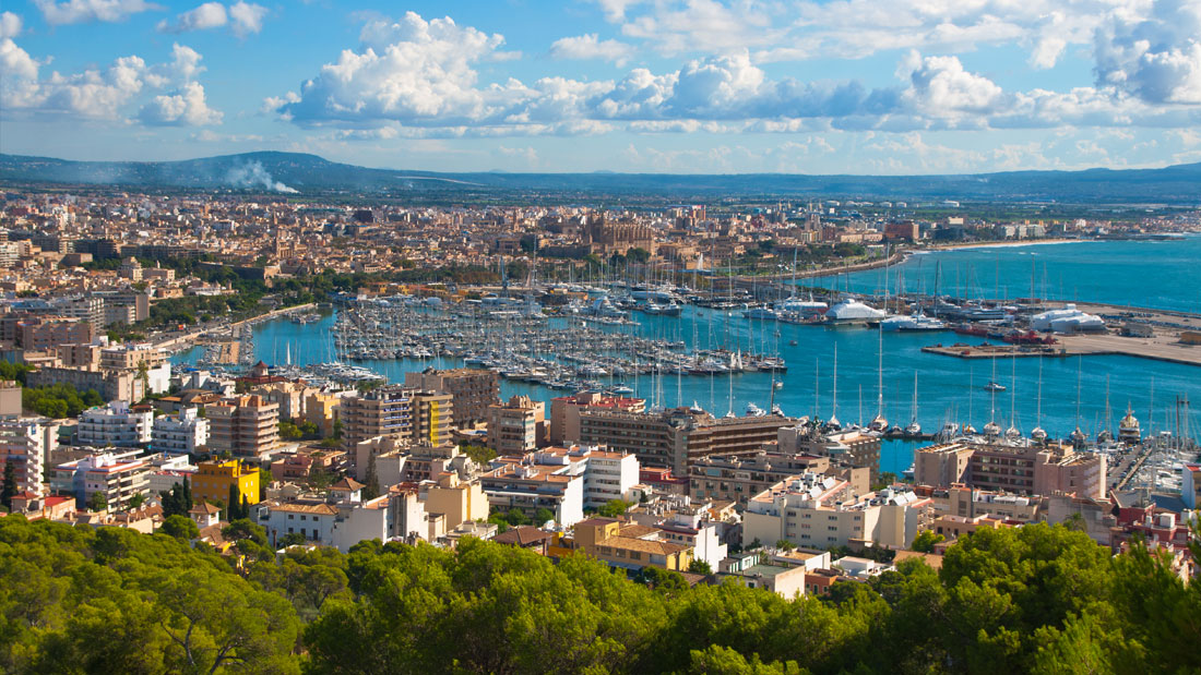 Vista de la bahía de Palma de Mallorca