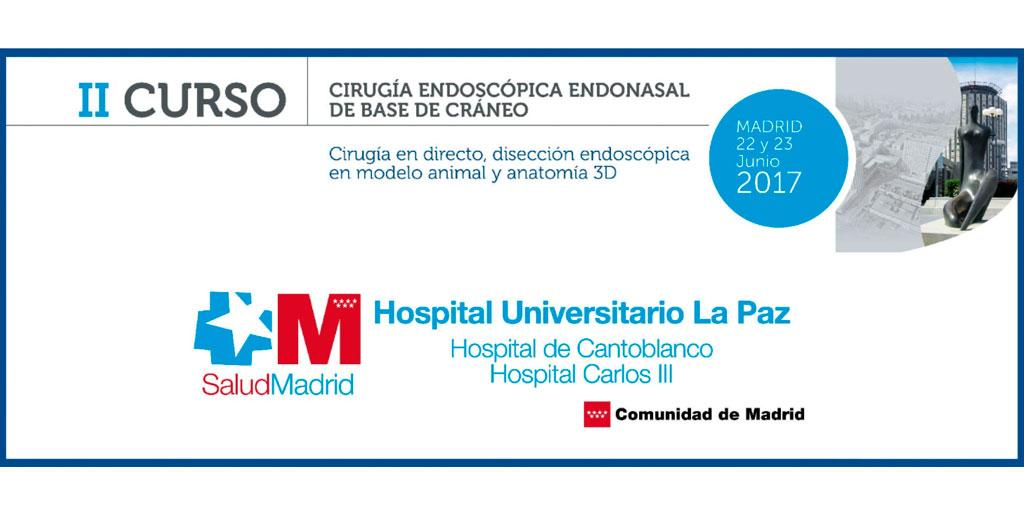II Curso de Cirugía Endoscópica Endonasal de Base de Craneo   SBORL ...